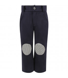 OWA YURIKA Blue ''Jackie'' girl pants with patch