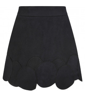 Black ''Michiko''girl skirt with patch