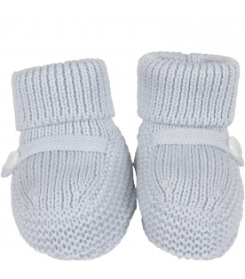 LITTLE BEAR Light blue babyboy bootee