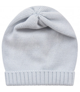 Light blue babyboy hat with turn-up