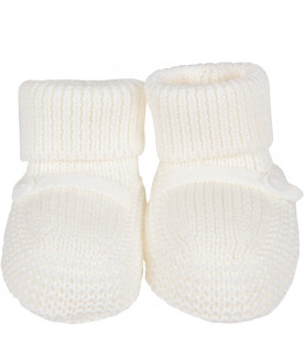 LITTLE BEAR White babykids bootee