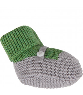 Green and grey babykids bootee