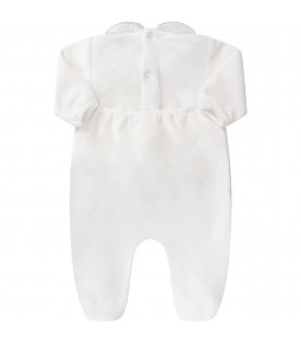 White babyboy babygrow with light blue bear