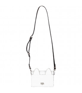 White and silver girl bag with Choupette
