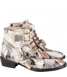 Pyton print boots for girl