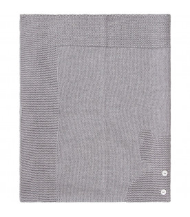 Grey babykids blanket with iconic bear
