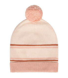CHLOÉ KIDS Pink girl hat with logo