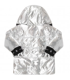 Silver babygirl jacket with white logo