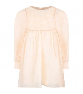 Pink chiffon girl dress