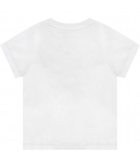 GIVENCHY KIDS White babykids T-shirt with black logo