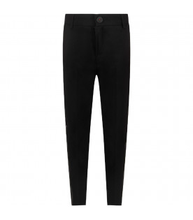 Black boy pants with white logo