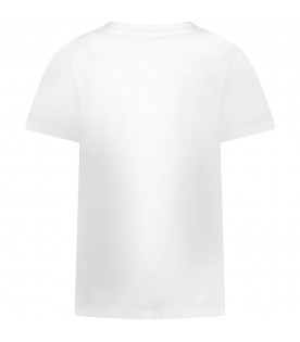 White girl T-shirt with silver logo