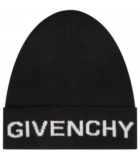 GIVENCHY KIDS Black kids hat