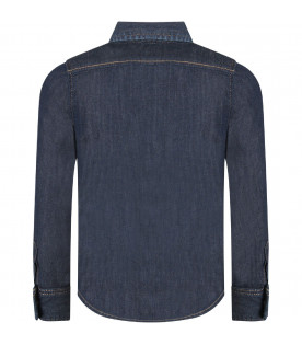 DSQUARED2 Denim boy shirt with ''Icon'' writing