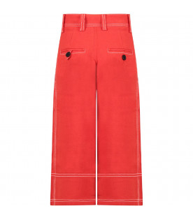 Red girl pants with white details