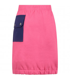 Pink girl skirt with blue logo