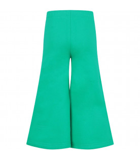Green girl pants