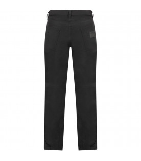 DSQUARED2 Black kids snow pant with rubbred logo