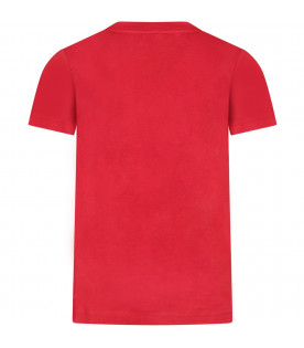 Red boy T-shirt with iconic bear