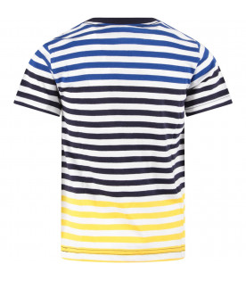 Multicolor boy T-shirt with iconic pony