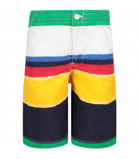 RALPH LAUREN KIDS Multicolor boy short with iconic pony