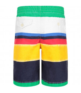 Multicolor boy short with iconic pony