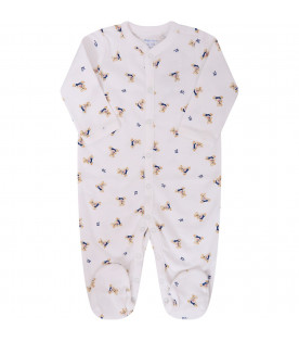 White babygrow for babykids with colorful bears