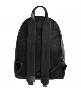 NEIL BARRETT KIDS Black boy backpack with white logo