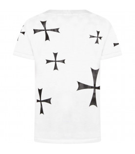 White boy t-shirt with crosses