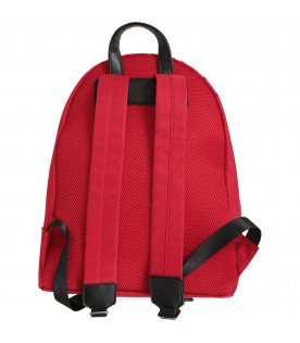 NEIL BARRETT KIDS Red boy backpack with black thunders