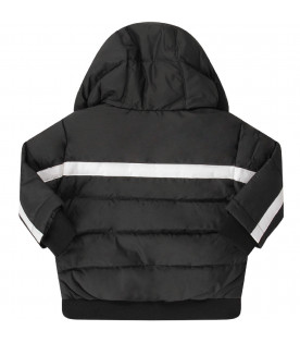 Black babyboy jacket with white logo
