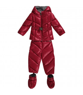 MONCLER KIDS Tuta imbottina per neonata con iconico patch