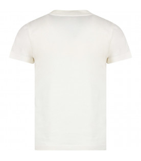 White boy T-shirt with red patch