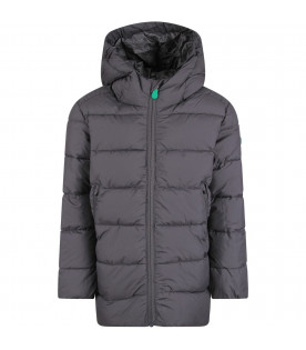 SAVE THE DUCK KIDS QUILTED JACKETS GRIGIO
