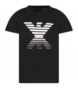 Black boy T-shirt with iconic eagle