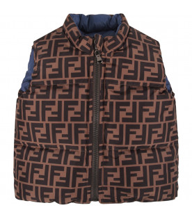 Black and brown babyboy vest with double FF