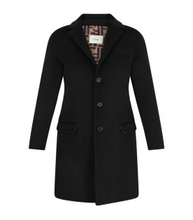 FENDI KIDS Black girl coat