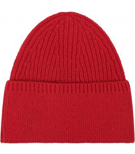 Red boy hat with logo