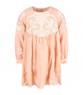 the latest ad4ee 5c5ac Chloé Kids Abito rosa
