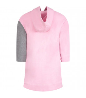 Grey and pink girl dress with iconic face