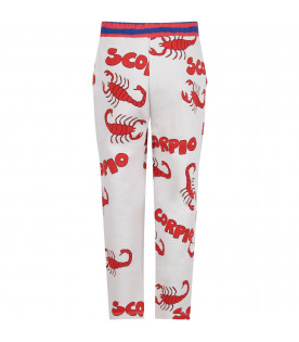 Grey kids sweatpants with red scorpions