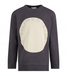 STELLA MCCARTNEY KIDS Grey kids sweatshirt with iconic logo