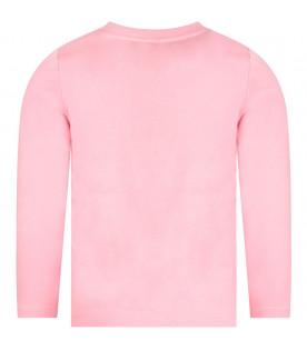 Pink girl T-shirt with iconic logo