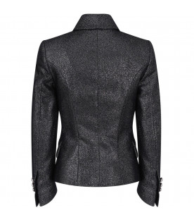 Black lurex girl jacket
