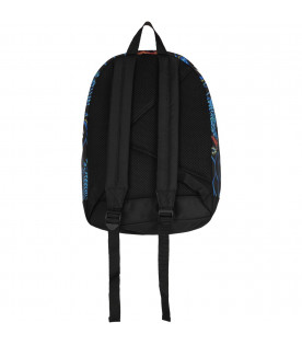 KENZO KIDS Blue boy backpack with colorful dragons and tigers