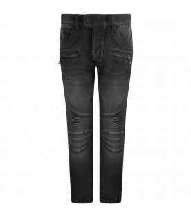 Dark grey pants with logo for girl