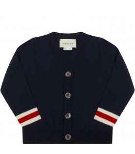 GUCCI KIDS Blue cardigan