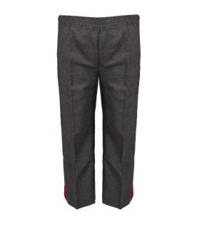 GUCCI KIDS Grey pants with stripes