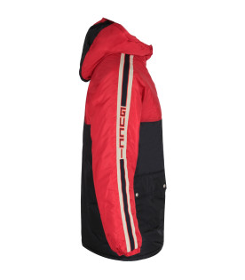 GUCCI KIDS Blu and red padded boy jacket