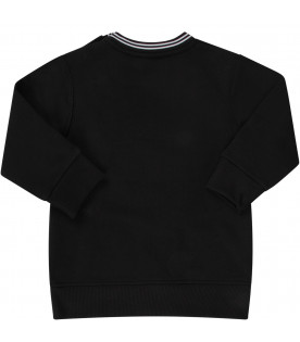 GIVENCHY KIDS Black babykids sweatshirt with white logo